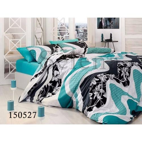 """Комплект постельного белья """"Аделина blue"""" двуспальный 150527-020"""
