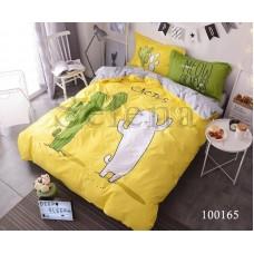 """Комплект постельного белья """"Кактусы жёлто-серые"""" двуспальный 100165-020"""