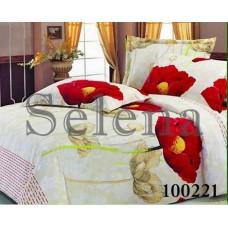 """Комплект постельного белья Selena """"Маки крупные"""" полуторный 100221-010"""