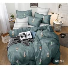 """Комплект постельного белья """"Кактус Изумруд"""" евростандартный 100288-030"""