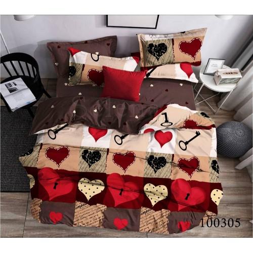 """Комплект постельного белья """"Любящее сердце"""" двуспальный 100305-020"""