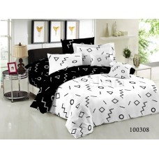 """Комплект постельного белья """"Геометрический микс"""" двуспальный 100308-020"""