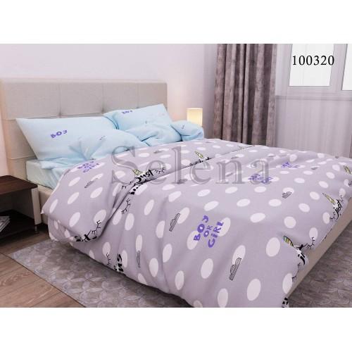 """Комплект постельного белья """"Коллаж """" двуспальный 100320-020"""