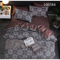 """Комплект постельного белья """"Восточный мотив Brown"""" семейный 100384-050"""