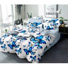 """Комплект постельного белья Selena """"Полет бабочек Gray"""" евро 100431-030"""