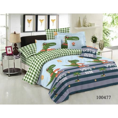 """Комплект постельного белья """"Крокодильчик"""" двуспальный 100477-020"""