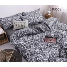 """Комплект постельного белья """"Мозаика серая"""" евростандарт 100668-030"""