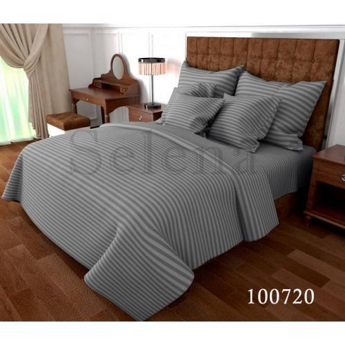 """Комплект постельного белья """"Stripe Gray"""" семейный 100720-050"""