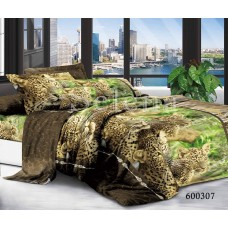 """Комплект постельного белья """"Леопарды """" полуторный 600307-010"""