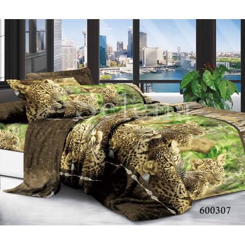 """Комплект постельного белья """"Леопарды """" евростандарт 600307-030"""