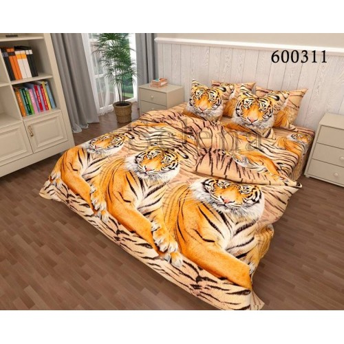 """Комплект постельного белья """"Тигры2"""" двуспальный 600311-020"""