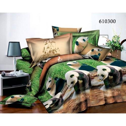 """Комплект постельного белья """"Панды"""" двуспальный 610300-020"""