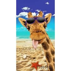 """Полотенце пляжное вафельное """"Жираф"""" 720102"""