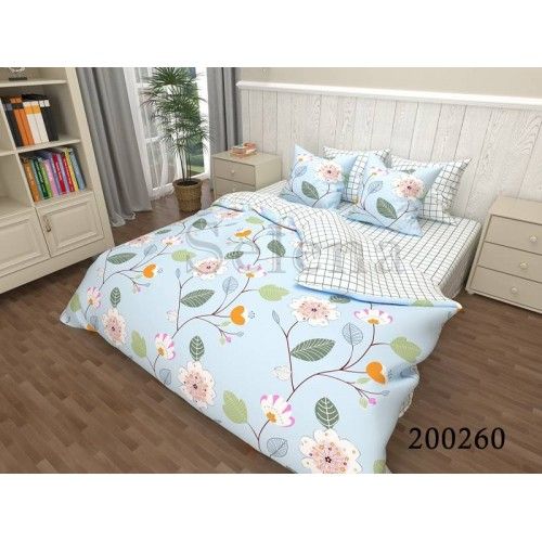 """Комплект постельного белья """"Голубое чудо"""" евростандарт 200260-030"""