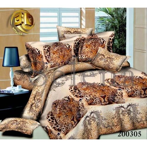 """Комплект постельного белья """"Леопард 2"""" семейный 200305-050"""