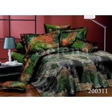 """Комплект постельного белья """"Джунгли"""" евростандарт 200311-030"""