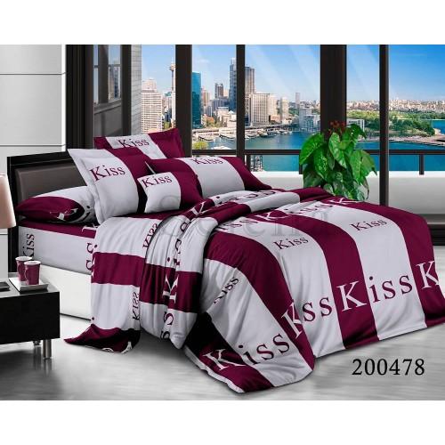 """Комплект постельного белья """"Kiss Полоска"""" евростандартный 200478-030"""