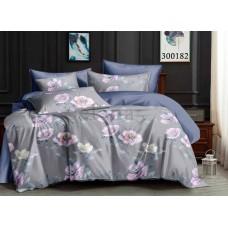 """Комплект постельного белья """"Цветочки Gray"""" полуторный 300182-010"""