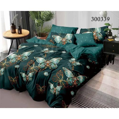 """Комплект постельного белья """"Бабочки Green"""" семейный 300339-050"""