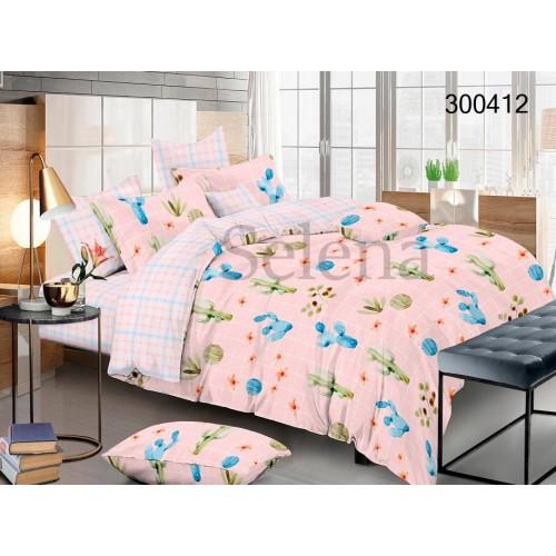 """Комплект постельного белья """"Кактусы микс"""" евростандартный 300412-030"""