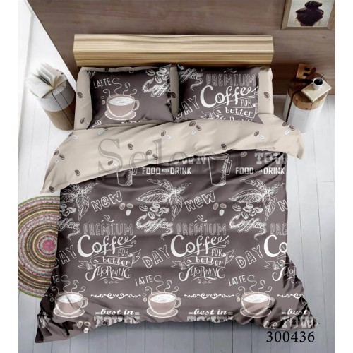 """Комплект постельного белья """"Кофейное утро"""" евростандартный 300436-030"""