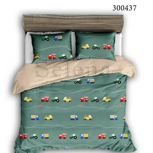 """Комплект постельного белья """"Машинки цветные"""" двуспальный 300437-020"""