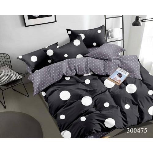 """Комплект постельного белья """"Горошек Black евростандарт 300475-030"""