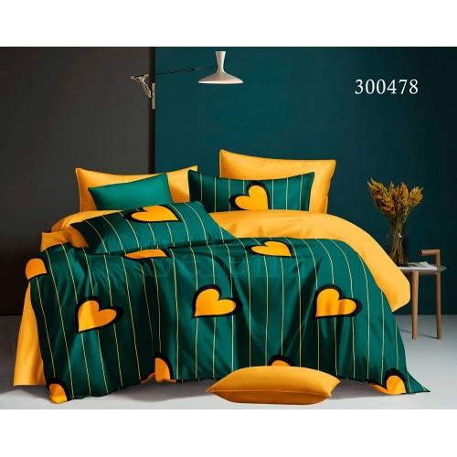 """Комплект постельного белья """"Лимонное сердце"""" евростандарт 300478-030"""
