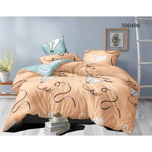"""Комплект постельного белья """"Лампочки 2"""" евростандарт 300496-030"""