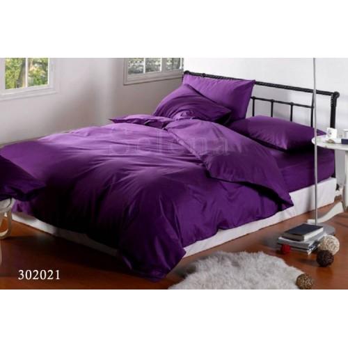 """Комплект постельного белья """"Темно-фиолетовый"""" евростандартный 302021-030"""