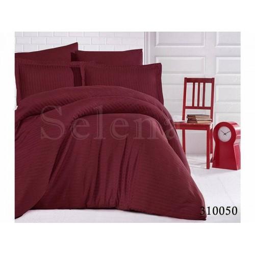"""Комплект постельного белья """"Импреза Bordo Stripe"""" двуспальный 310050-020"""