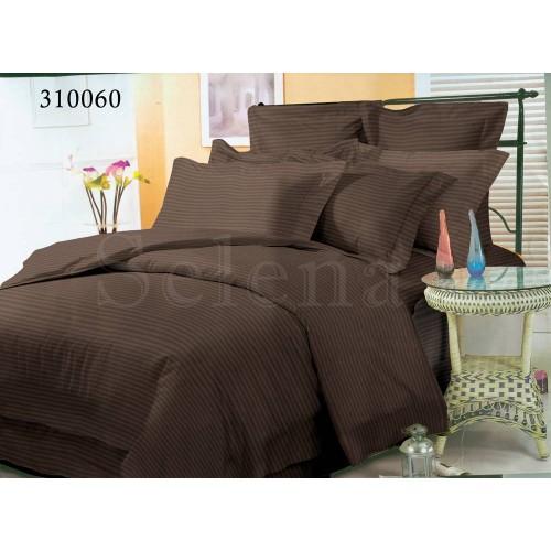 """Комплект постельного белья """"Импреза Шоколад Stripe"""" евростандартный 310060-030"""